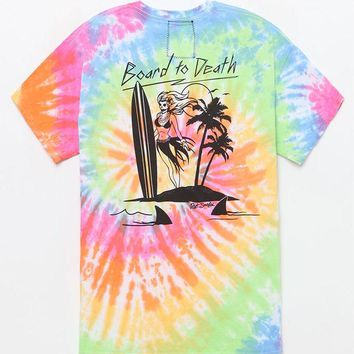 DCCKYB5 Riot Society Board To Death Tie-Dye T-Shirt