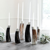 Ankole Horn Candlesticks - Set of 6