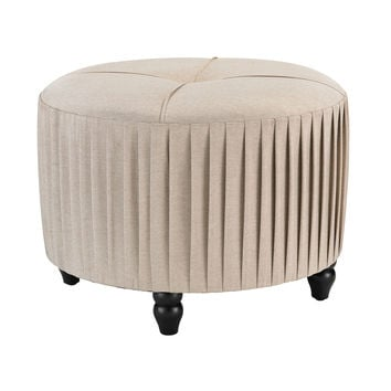 180-012 Pleated Ottoman in Natural Linen - Free Shipping!