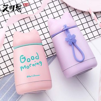 Thermo Mug Drinkware Kids Water Bottle Stainless Steel Child Vacuum Flask cup leak-proof Tumbler Cartoon Fox Thermos bottle cup