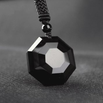 Black Obsidian Jewel Necklace