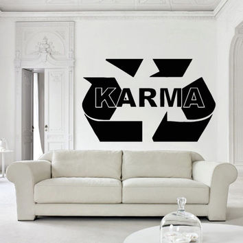 Wall decal decor decals sticker art design vinyl karma  religion  India  philosophy  law  fate  samsara  existence bedroom  (m1129)