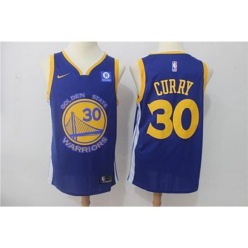 NBA Basketball Swingman Jerseys Golden State Warriors # 30 Stephen Curry Blue