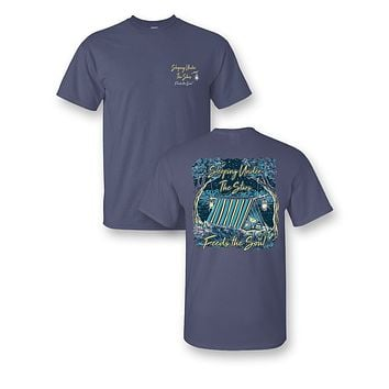 Sassy Frass Sleeping Under the Stars Camping Comfort Colors Girlie Bright T Shirt