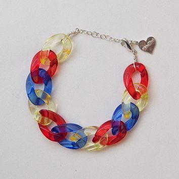 Primary Clear Anklet