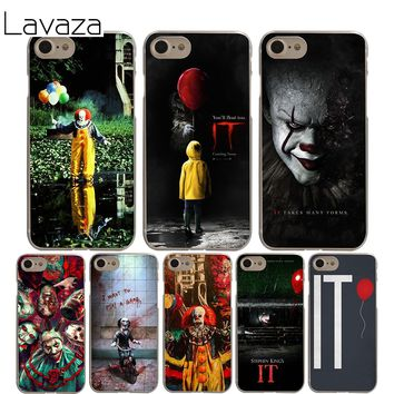 Lavaza Pennywise The Clown Horror Cover Case for iPhone X 10 8 7 6 6S plus Cases for Apple 5 5S 5C SE 4 4S Coque Shell