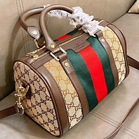 GUCCI  New fashion stripe more letter canvas shoulder bag handbag crossbody bag