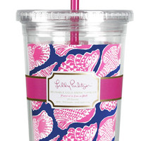 Lilly Pulitzer Tumbler with Straw- Cute as Shell