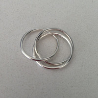 Sterling Silver Russian Wedding Ring -  Trinity ring - Intertwined - Twisted