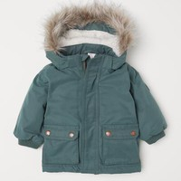 Padded Parka - Dark green - Kids | H&M US