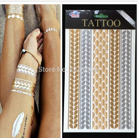 body art metallic flash GOLD tattoo diy = 5660887489