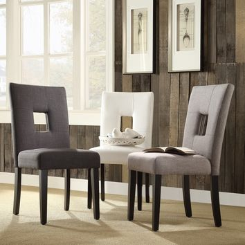 TRIBECCA HOME Mendoza Keyhole Back Dining Chairs (Set of 2) | Overstock.com Shopping - The Best Deals on Dining Chairs