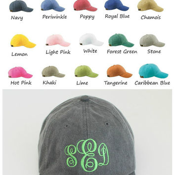 Ladies Monogram Baseball Cap