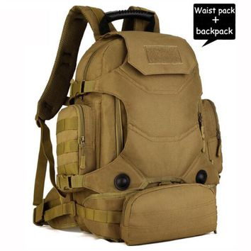 35L Men Military Backpack Women Casual Laptop Back Bag Large Capacity Male Travel Rucksack Nylon Black Army Backpack 2017