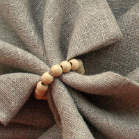 Napkin Rings 8pcs Napkin Ring Holders Napkin Rings Wedding Dining Room Natural Linen Prewashed Linen Napkin Holder Wedding Napkins