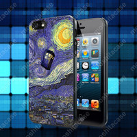 Van Gogh Tardis Doctor Who starry night art painting Case For iPhone 5, 5S, 5C, 4, 4S and Samsung Galaxy S3, S4