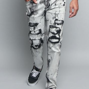 Black Bleached Distressed Jeans