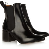 Acne | Free glossed-leather ankle boots | NET-A-PORTER.COM