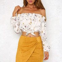 Chick Flick Skirt Mustard