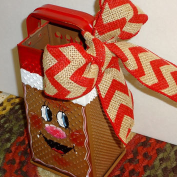 Gingerbread Upcycled Bromco Box Grater,,Kitchen Decor, Gingerbread Decor, Cheese Shredder,,