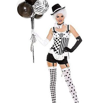Adult Celestrial Circus Babe Clown Costume - Spirithalloween.com