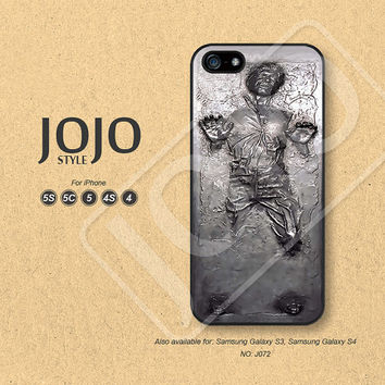 iPhone 5 Case, iPhone 5c Case, iPhone 4 Case, iPhone 5s Case, iPhone 4s Case, Han Solo in Carbonite, Phone Cases, Phone Covers - J072