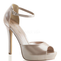Champagne Patent Ankle Strap Lumina D'Orsay Pumps