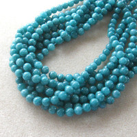 "Jade Round Beads, Jewelry Making Beads, Gemstone Beads,  Ball Bead, Stone Bead, Craft Supply, Jewelry Design, 15"" Strand 8mm"