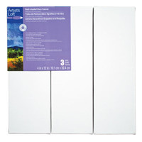 Artist's Loft™ Back Stapled Deco Canvas 3 Pack 4 in x 12 in