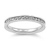 New Eternity CZ 316L Stainless Steel Engagement Wedding 3mm Band Ring Size 8-10