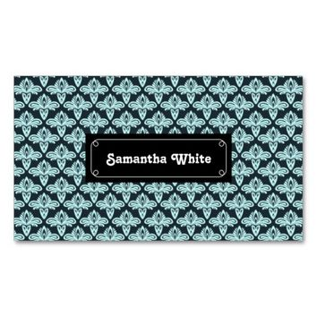 Glowing style blue abstract pattern Double-Sided standard business cards (Pack of 100)