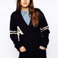Pop Boutique Letterman Cardigan