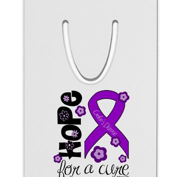 Hope for a Cure - Purple Ribbon Crohn's Disease - Flowers Aluminum Paper Clip Bookmark