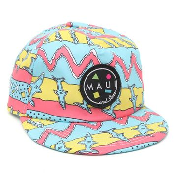 Maui & Sons Rad Shark Flip Snapback Hat - Mens Backpack - Green - One