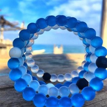 4pcs/lot fashion shark Lokai bracelets 16 colors silicone bead bracelets S M L XL