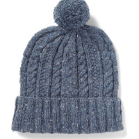 PRODUCT - Richard James - Cable Knit Donegal Wool Beanie Hat - 377288   MR PORTER
