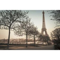 Remembering Paris Unframed Wall Canvas (24x36)