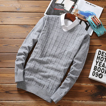 Men's Retro Fashion Knitted Sweater