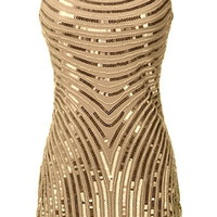 Flapper Fever Dress | Yellow Gold Vintage Sequin Party Dresses | Rickety Rack