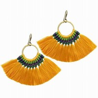 Vintage Fringed Handmade Long Tassel Earrings