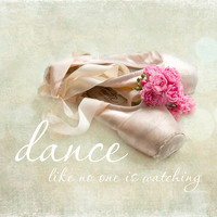 Girls room wall art-Dance-pointe shoes-dance photography-shabby chic decor