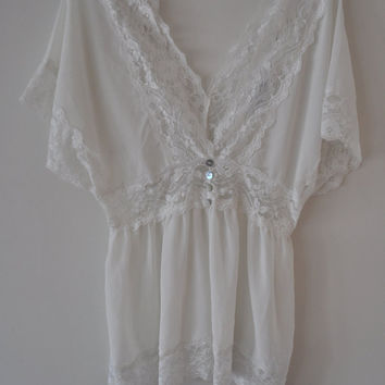 Vintage Lace Baby Doll Blouse