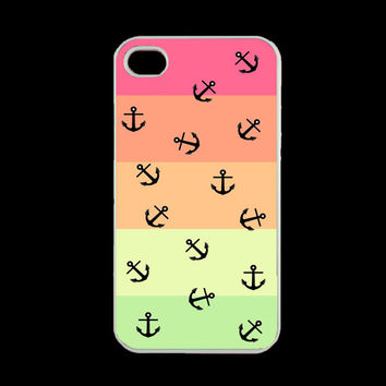Iphone 4s Case - Tropical Anchor Iphone Case, Iphone 4 Case