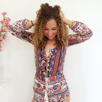 Enchanted Desert Playsuit {Boutique Collection}
