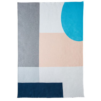 alpha / knitted cotton blanket