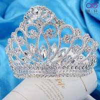 Qixuan Wedding Tiara Rhinestones Crystal Bridal Headband Pageant Princess Crown