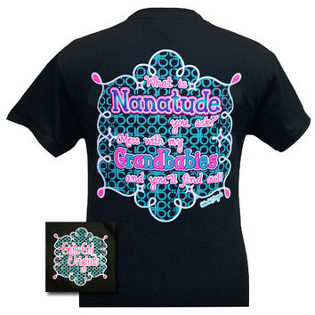 Girlie Girl Originals Nanatude Nana Grandbabies Bright T Shirt