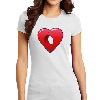 Hole Heartedly Broken Heart Juniors Petite T-Shirt