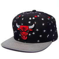 Chicago Bulls Retro All Over Stars Edition Custom Snapback Hat (Drjays.com Exclusive) by Mitchell & Ness
