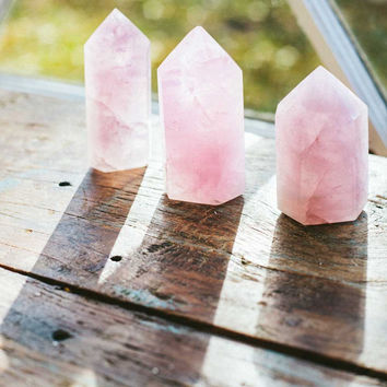 Polished Rose Quartz Point